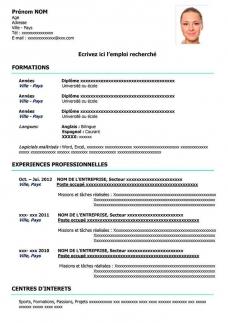 Exemples De Cv A Telecharger Gratuit Au Format Word