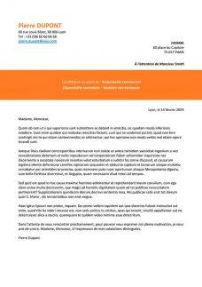 format de lettre de motivation pour CV
