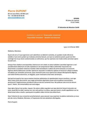 format lettre de motivation pour CV