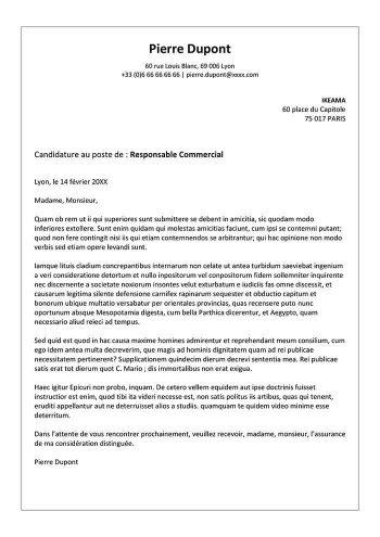 lettre de motivation pour embauche