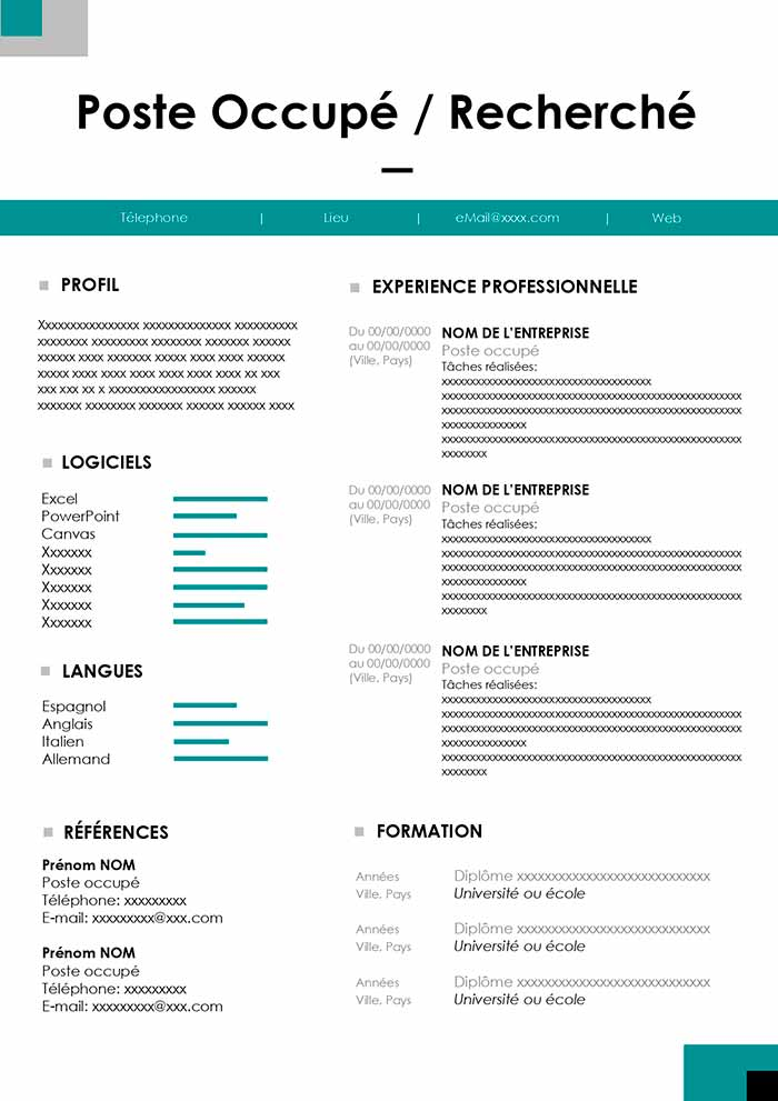 cv anonyme exemple