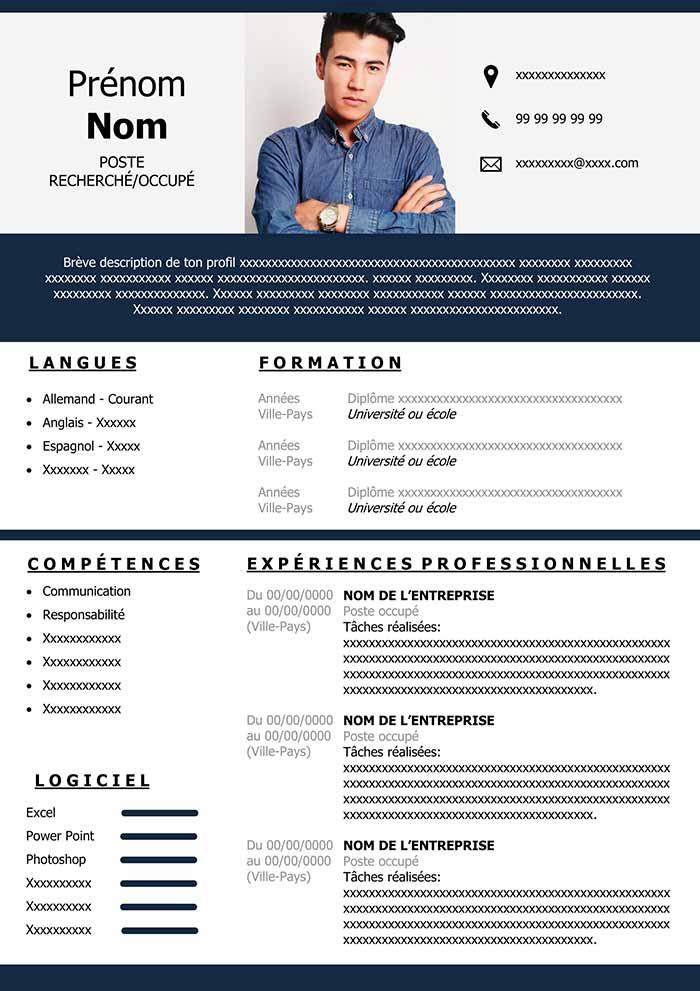 modèle cv communication gratuit
