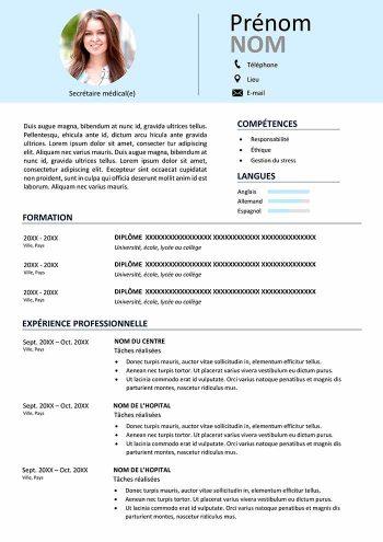 modele-cv-secretaire-medicale