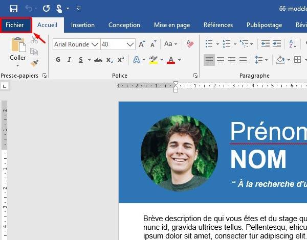 comment rédiger un cv pdf