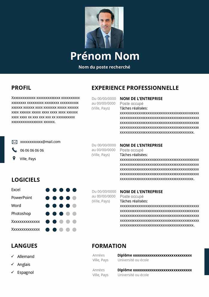 cv finance template