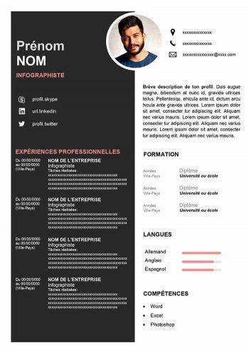 modele cv infographiste