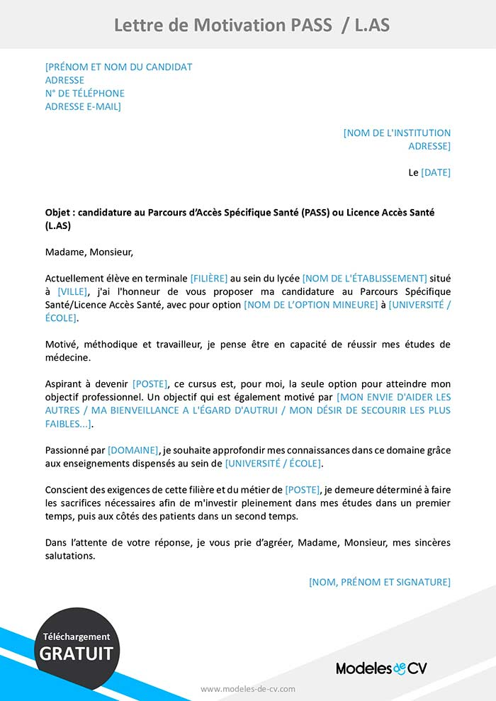 lettre-de-motivation-pass-las-sante-medecine