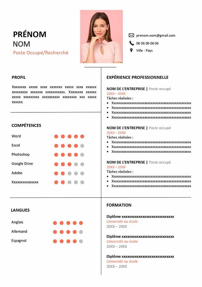 Modèle de CV à Télécharger Gratuit | CV Word